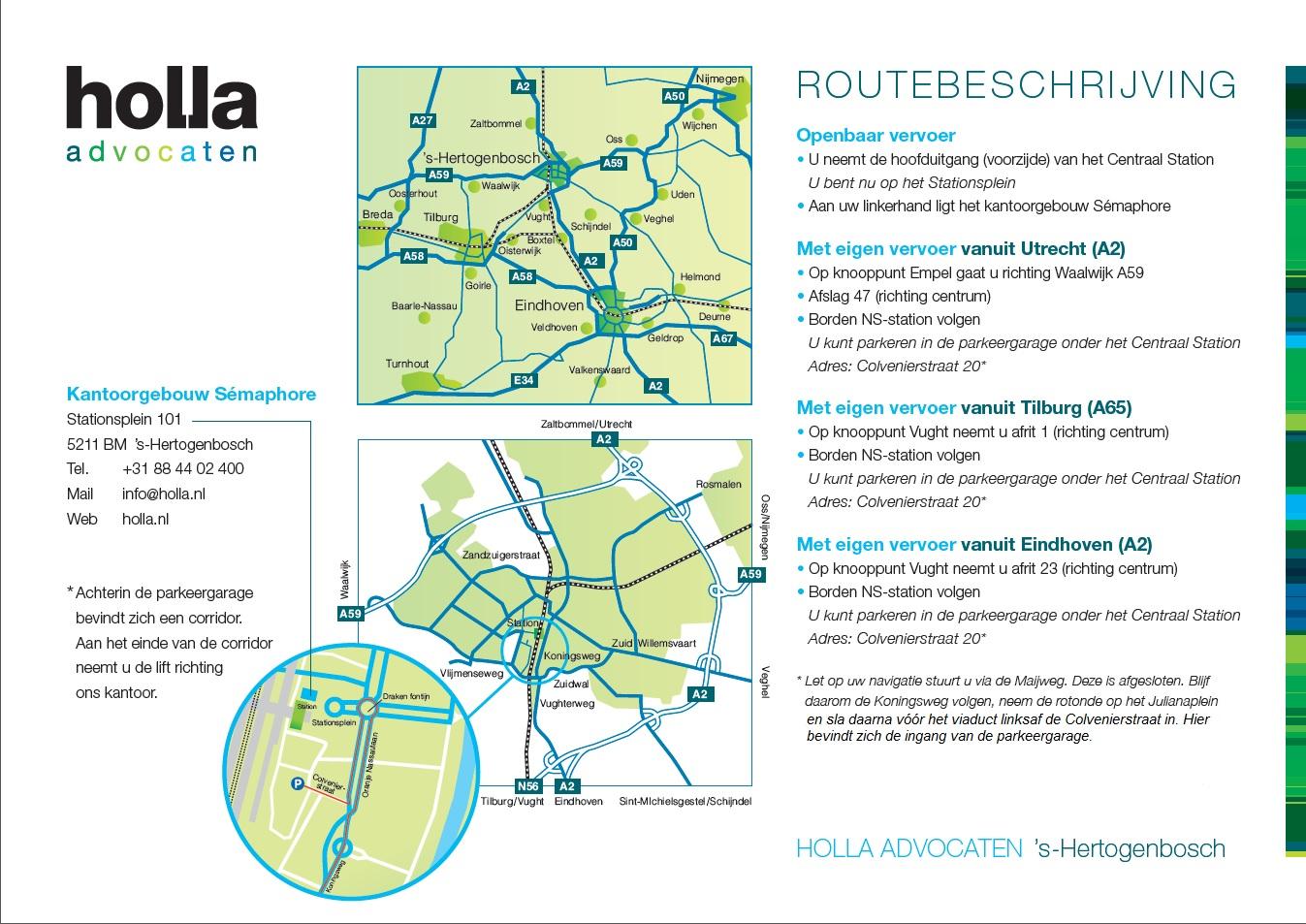 Contact en Routebeschrijving - Holla